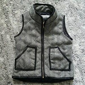Girls herringbone vest, jcrew inspired